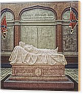 The Recumbent Robert E. Lee Wood Print