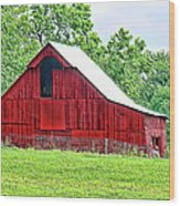 The Red Barn - Featured In Old Buildings And Ruins Group Wood Print