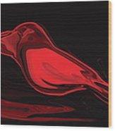 The Red Bird Wood Print