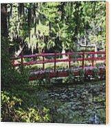 The Red Bridge Wood Print