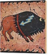 The Red  Buffalo Fresco Wood Print