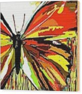 The Red Butterfly Wood Print