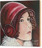 Red Cloche Wood Print