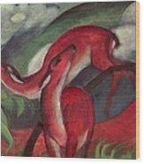 The Red Deer Wood Print