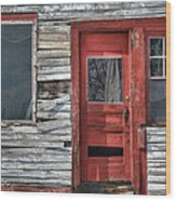 The Red Door Wood Print by Eric Gendron