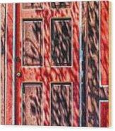 The Red Door Wood Print