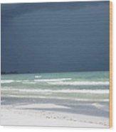 The Red Dress - Beach Art By Sharon Cummings Wood Print