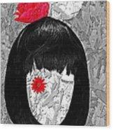 The Red Eye Wood Print