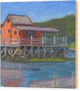 The Red Fish House Wood Print