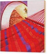 The Red Hammock Wood Print