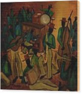 The Red Hat Octet And Friends Wood Print