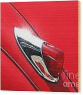 The Red Jag Wood Print