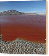The Red Lagoon Wood Print