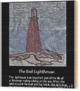 The Red Lighthouse Wood Print