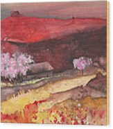 The Red Mountain Wood Print