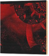 The Red Planet Cometh Wood Print