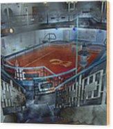 The Red Pool Wood Print