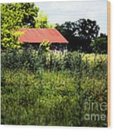 The Red Roof Wood Print