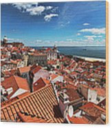 The Red Roofs Of Lisbon #2 Wood Print