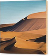 The Red Sand Dunes In Namibia Wood Print
