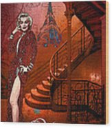 The Red Stair Wood Print