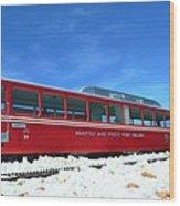 The Red Train Wood Print