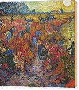 The Red Vineyard Wood Print