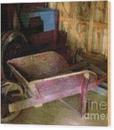 The Red Wheelbarrow Wood Print
