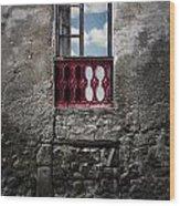 The Red Window Wood Print