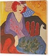 The Redhead Wood Print
