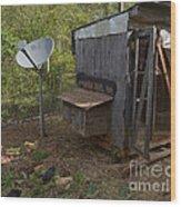 The Redneck Chicken Coop Wood Print