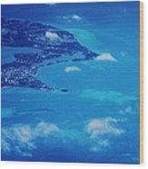 Bermuda Blue, Aerial Wood Print