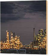 The Refinery Wood Print