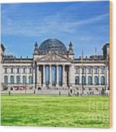 The Reichstag Building Berlin Germany Wood Print