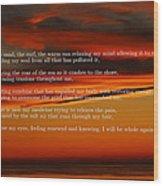 The Renewal Poem Wood Print