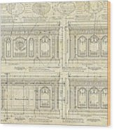 The Resolute Desk Blueprints / Ivory Scroll Wood Print