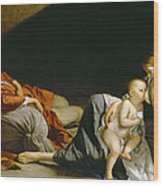 The Rest On The Flight Into Egypt Wood Print