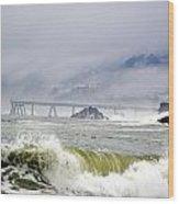 The Restless Sea Wood Print