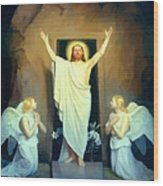 The Resurrection Of Christ By Carl Heinrich Bloch  Wood Print