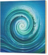 The Return Wave Wood Print