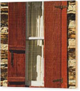 The Reynold's Cabin Window Wood Print