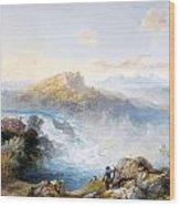 The Rhine Falls At Schaffhausen Wood Print