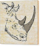 The Rhino Wood Print