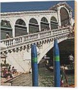 The Rialto Bridge Of Venice Wood Print