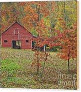 The Rice Barn Wood Print