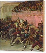 The Riderless Racers At Rome Wood Print