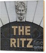 The Ritz London Wood Print