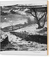 The River Wood Print