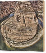 The River Did It Wood Print by Heather Applegate