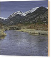 The River Flows Wood Print by Tom Wilbert